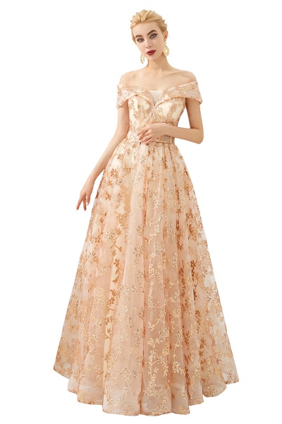 Graceful Off-the-shoulder Tulle A-line Prom Dress_1
