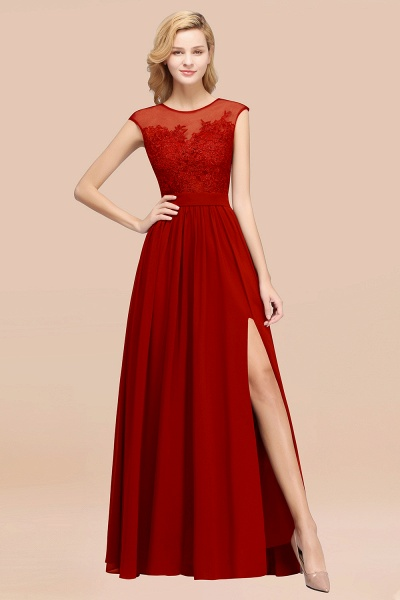 A-line Chiffon Lace Jewel Sleeveless Floor-Length Bridesmaid Dresses with Appliques_48
