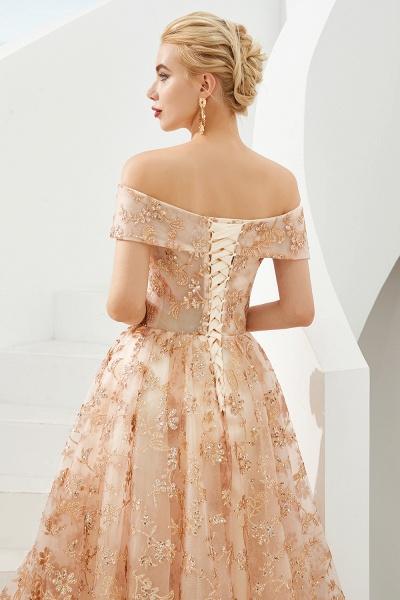 Graceful Off-the-shoulder Tulle A-line Prom Dress_8