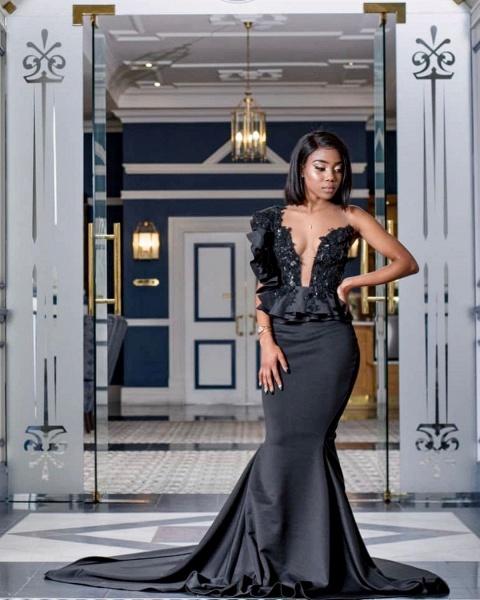 Stylish Jewel Sleeveless Appliques Mermaid Prom Dresses | Sexy Long Evening Dresses_2