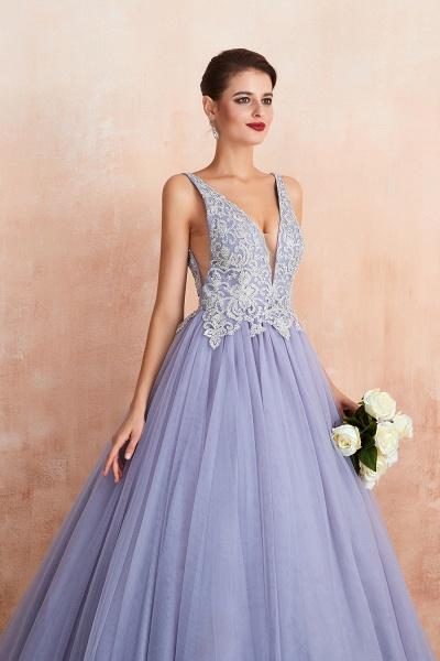 Excellent V-neck Tulle Princess Prom Dress_9