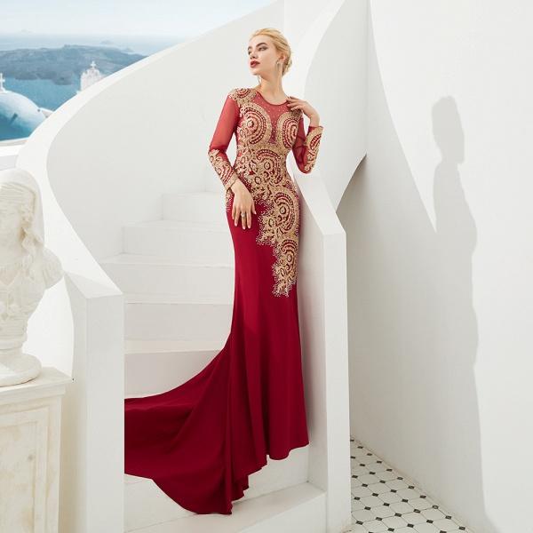Attractive Jewel Tulle Mermaid Prom Dress_6