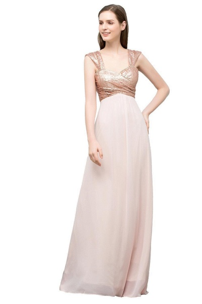 Chic Off-the-shoulder Chiffon A-line Evening Dress_1