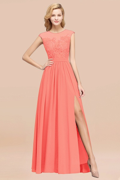 A-line Chiffon Lace Jewel Sleeveless Floor-Length Bridesmaid Dresses with Appliques_45