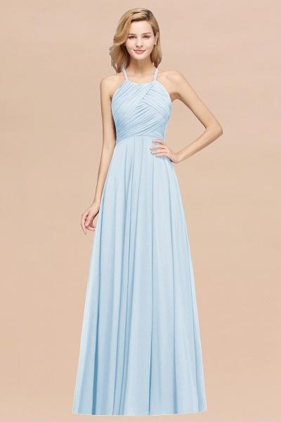 A-Line Chiffon Halter Ruffles Floor-Length Bridesmaid Dress_23