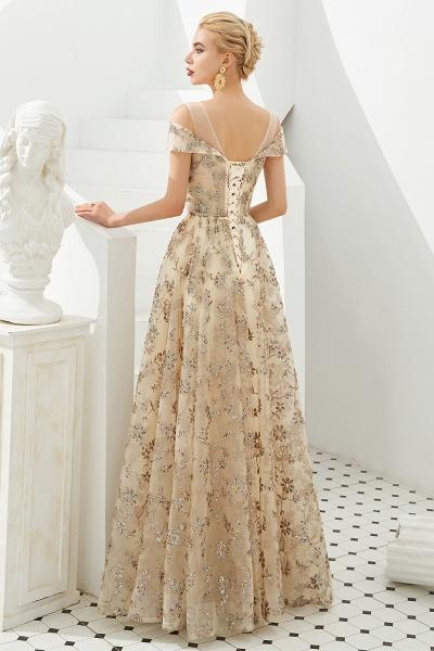 Graceful V-neck Tulle A-line Prom Dress_3