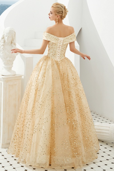 Attractive Off-the-shoulder Tulle Princess Prom Dress_3