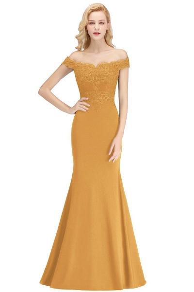 Mermaid Off-the-shoulder Long Appliques Bridesmaid Dress_9