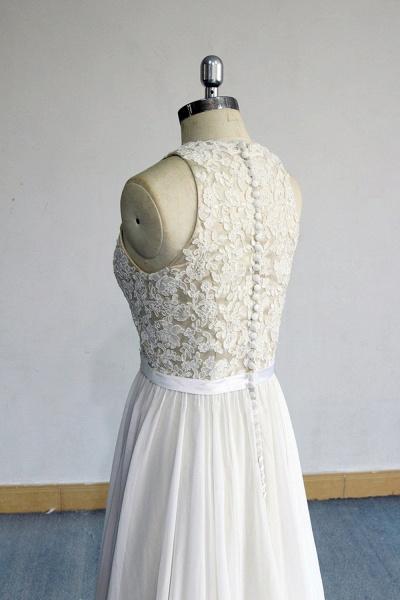 Eye-catching Lace Chiffon A-line Wedding Dress_5