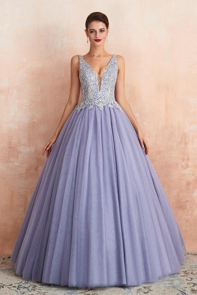 Excellent V-neck Tulle Princess Prom Dress_4