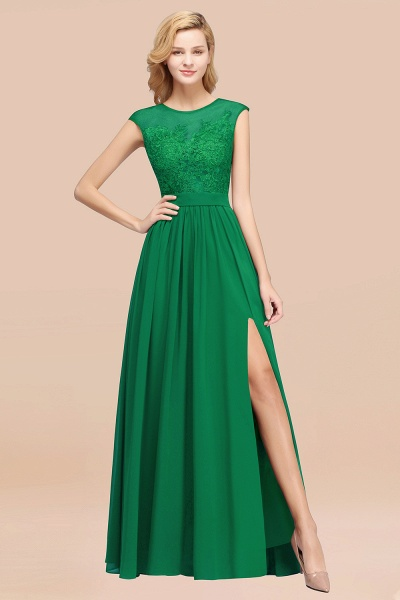 A-line Chiffon Lace Jewel Sleeveless Floor-Length Bridesmaid Dresses with Appliques_49
