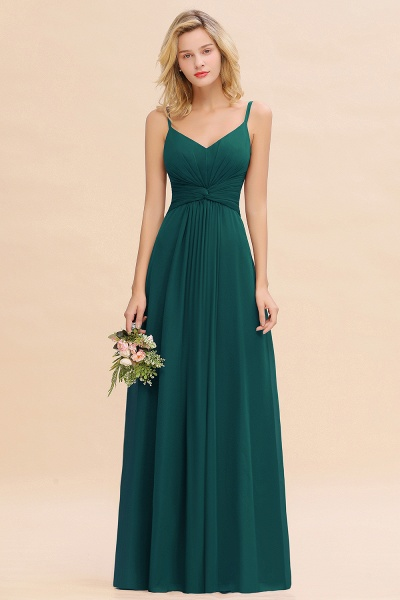 BM0762 Elegant A-line Ruffles Spaghetti Straps Bridesmaid Dress_33