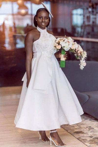 Cute Applqiues Satin A-line Bridesmaid Dress_1