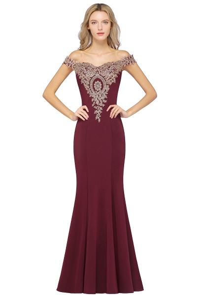 Elegant Bateau Healthy Mermaid Evening Dress_2