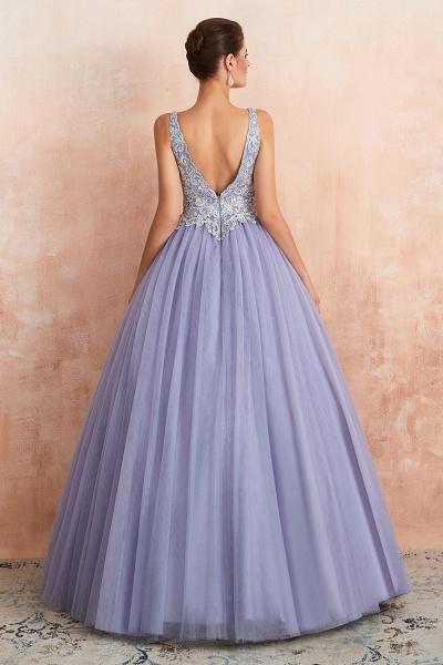 Excellent V-neck Tulle Princess Prom Dress_6