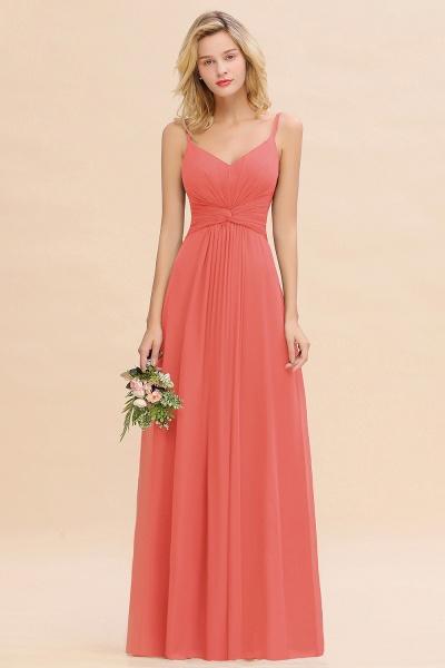 BM0762 Elegant A-line Ruffles Spaghetti Straps Bridesmaid Dress_7
