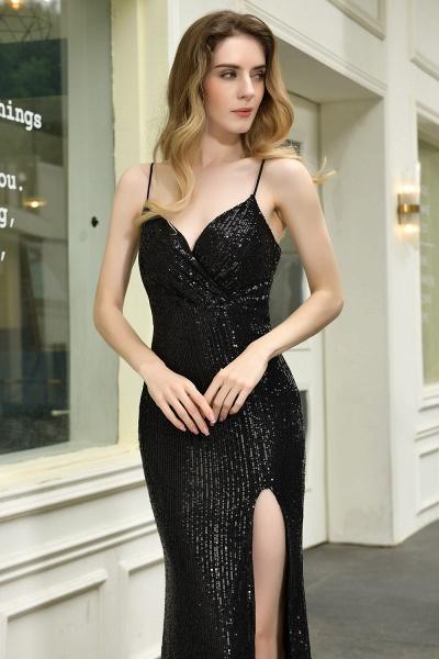 Amazing Spaghetti Strap Split Sequins Prom Dress_12