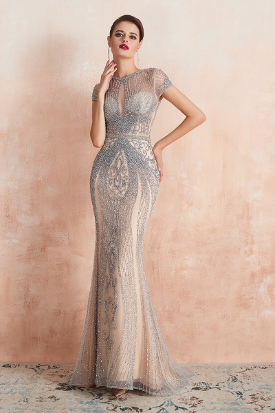 Marvelous Jewel Tulle Mermaid Prom Dress_6