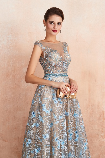 Beautiful Jewel Lace A-line Prom Dress_7