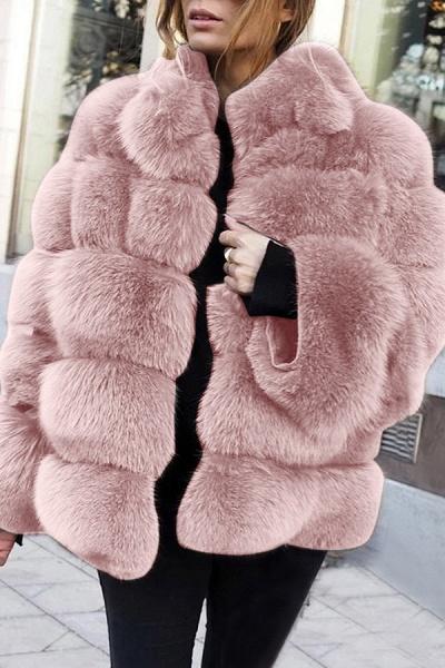 Women's Daily Street Winter Regular Faux Fur Coat_2