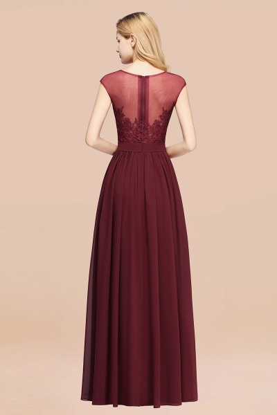 A-line Chiffon Lace Jewel Sleeveless Floor-Length Bridesmaid Dresses with Appliques_52