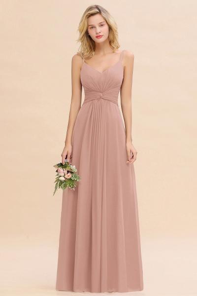 BM0762 Elegant A-line Ruffles Spaghetti Straps Bridesmaid Dress_6