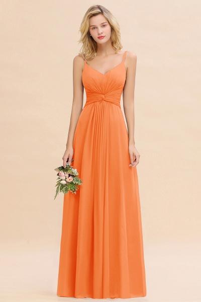 BM0762 Elegant A-line Ruffles Spaghetti Straps Bridesmaid Dress_15