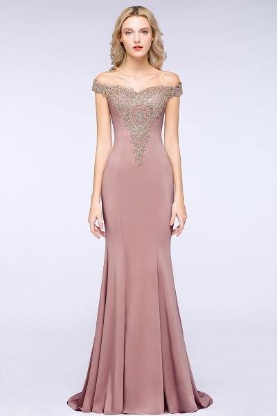 Elegant Bateau Healthy Mermaid Evening Dress_21