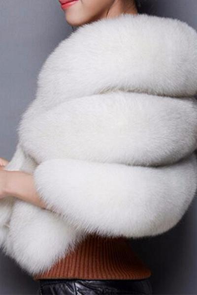 Women's Going out Winter Short Fur Coat_1