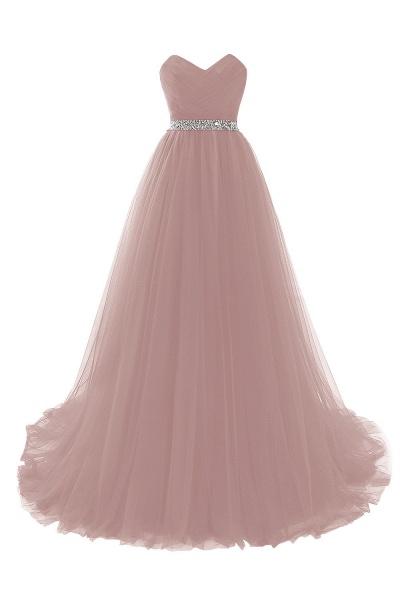 Glorious Strapless Organza A-line Evening Dress_2