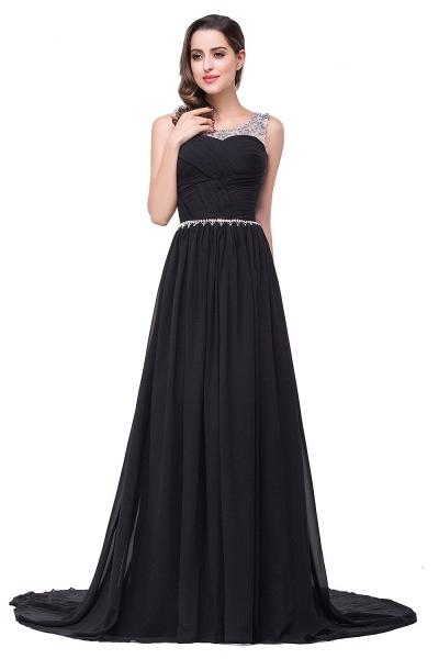 Precious Jewel Chiffon A-line Evening Dress_5
