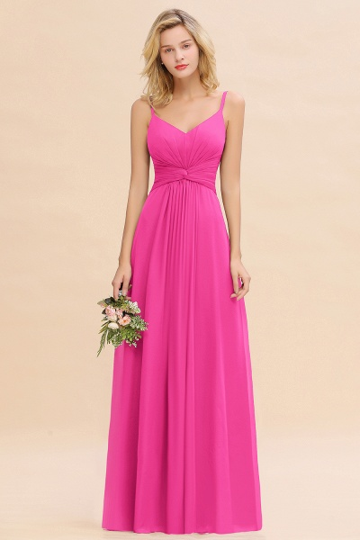 BM0762 Elegant A-line Ruffles Spaghetti Straps Bridesmaid Dress_9