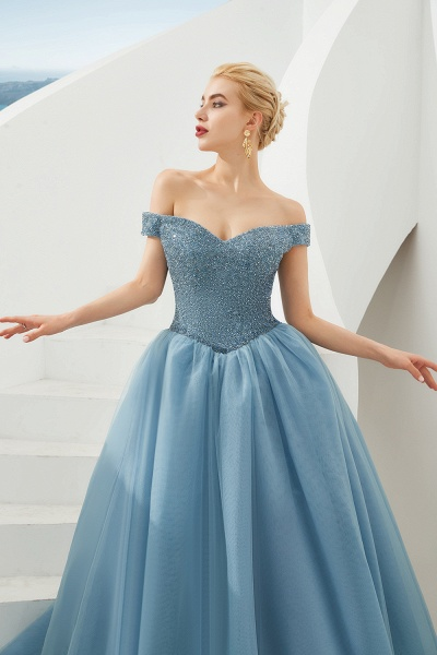 Glorious Off-the-shoulder Tulle A-line Prom Dress_21
