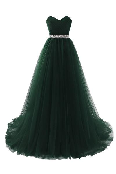 Glorious Strapless Organza A-line Evening Dress_7