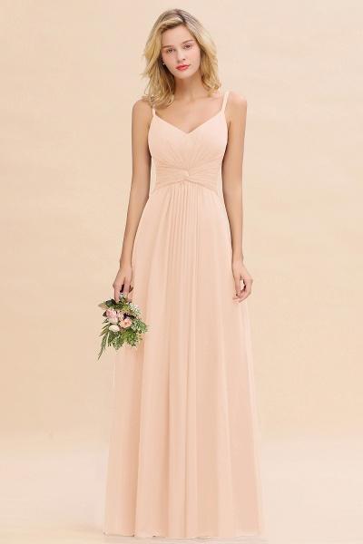 BM0762 Elegant A-line Ruffles Spaghetti Straps Bridesmaid Dress_5