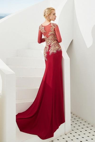 Attractive Jewel Tulle Mermaid Prom Dress_13