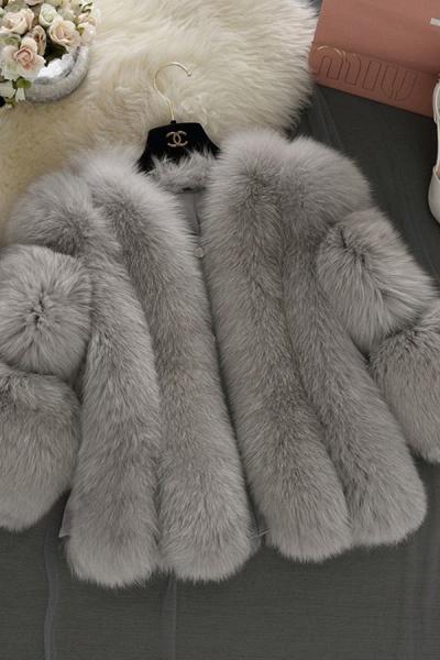 Women's Daily Basic Street Winter Faux Fur Coat_4