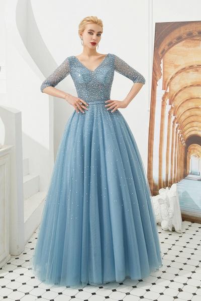 Chic V-neck Tulle A-line Prom Dress_6
