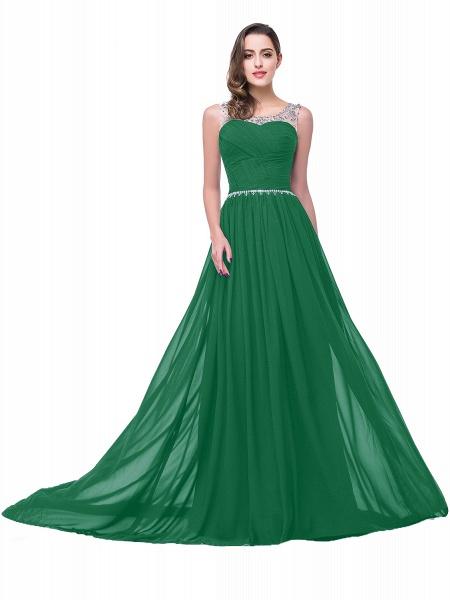 Precious Jewel Chiffon A-line Evening Dress_6