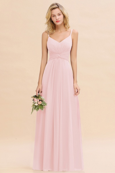 BM0762 Elegant A-line Ruffles Spaghetti Straps Bridesmaid Dress_3