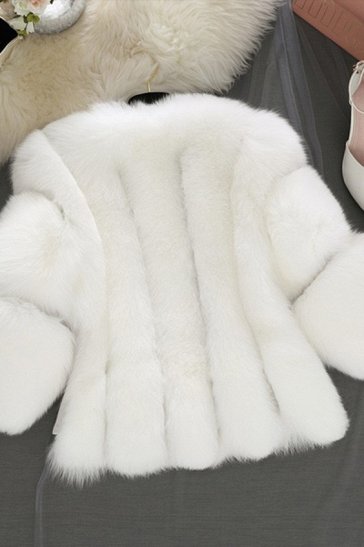 Women's Daily Basic Street Winter Faux Fur Coat_8