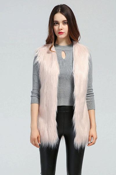 Women's Daily Fall & Winter Faux Fur Vest Coat_6