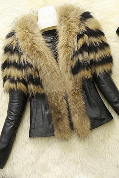 Women's Basic Winter Short Fur Coat_2