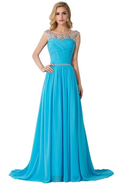 Precious Jewel Chiffon A-line Evening Dress_3