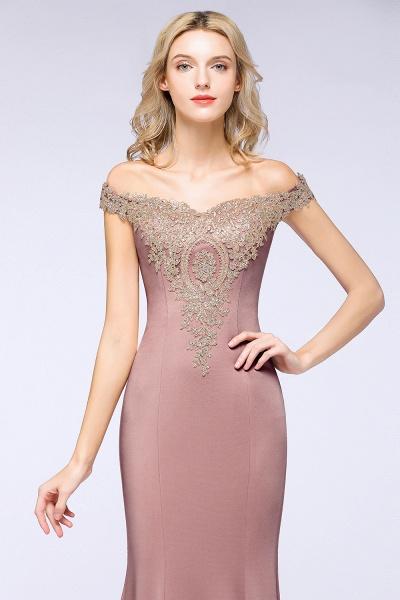 Elegant Bateau Healthy Mermaid Evening Dress_25