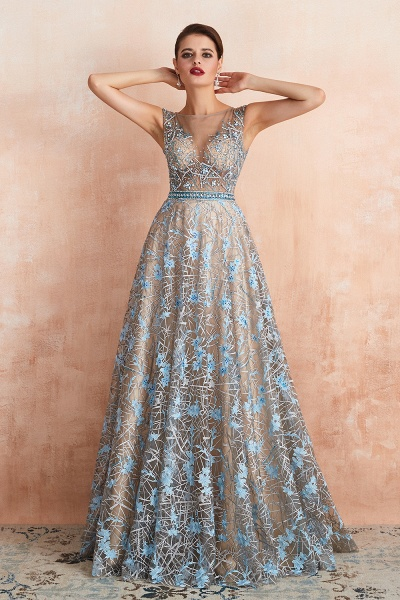 Beautiful Jewel Lace A-line Prom Dress_10