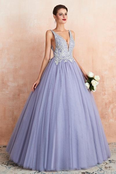 Excellent V-neck Tulle Princess Prom Dress_5