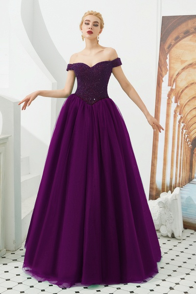 Glorious Off-the-shoulder Tulle A-line Prom Dress_1