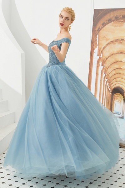 Glorious Off-the-shoulder Tulle A-line Prom Dress_16