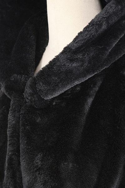 Women's Daily Street Hooded Long Faux Fur Coat_4